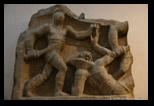 combat de gladiateurs - musée national romain - thermes de Dioclétien