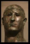 buste de bronze - musée national romain - thermes de Dioclétien