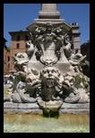 Place, fontaine de la Rotonde à Rome