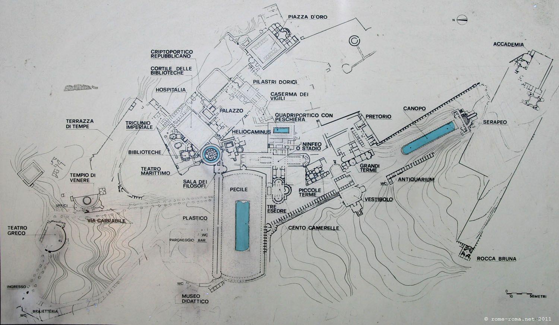 Plan De La Villa D Adrianna