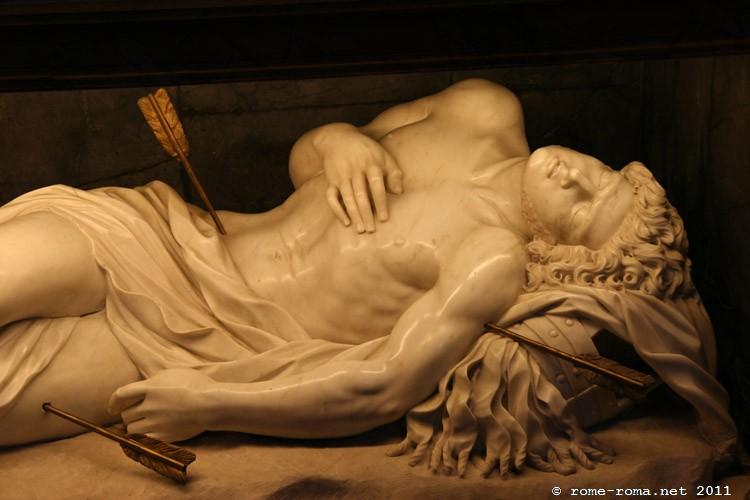 statue de saint sébastien