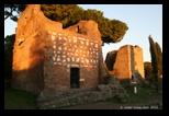 Temples à sépultures et mausolée via appia