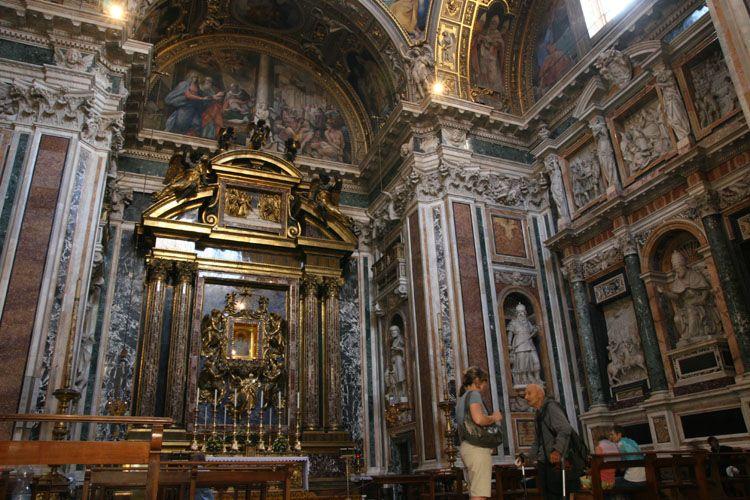 Visite et photos de sainte marie majeure - Plafond de la chapelle sixtine description ...