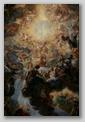 peinture nef - le triomphe du nom de jésus - église gesù