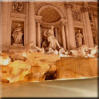 Quinrinale et fontaine de Trevi