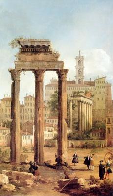 Cannaleto, Foro di Roma (1742)