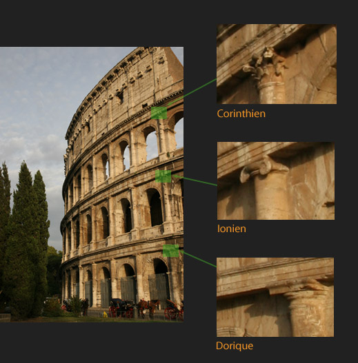 Architecture et description du Colisée