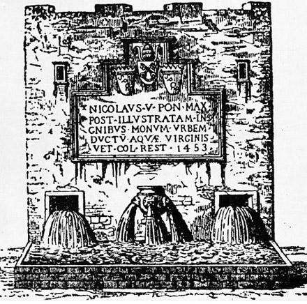 ancienne fontaine de trevi