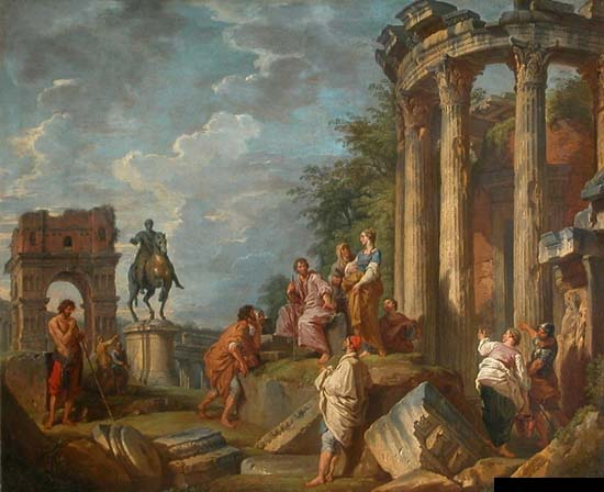 Paints of antic Rome
