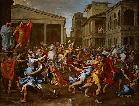 poussin - rape of sabins