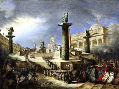 Altare patrio In piazza S. Pietro per la festa della Federazioneo