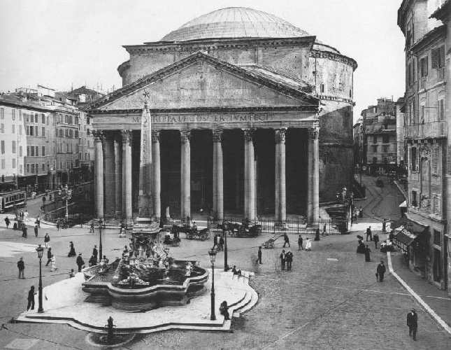 Old photos of roma monuments