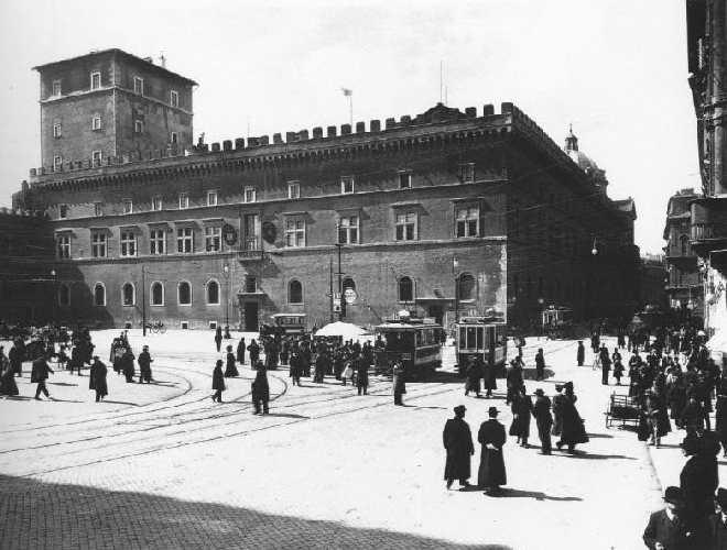 rome - photo ancienne - piazza venezia