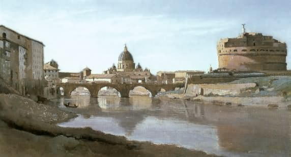 camille corot - the tiber and the rome castle
