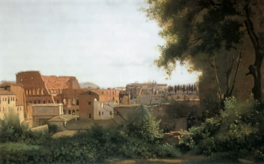 camille corot - view of the coloseum of rome