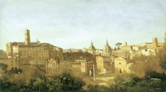 Camille Corot - view from the farnese gardens