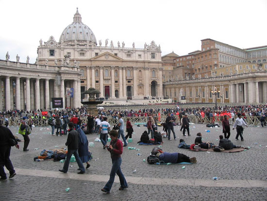 8 aprile 2005 a San Pietro