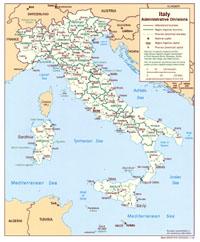 carte italie régions