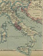 Cartes historiques de l'Italie
