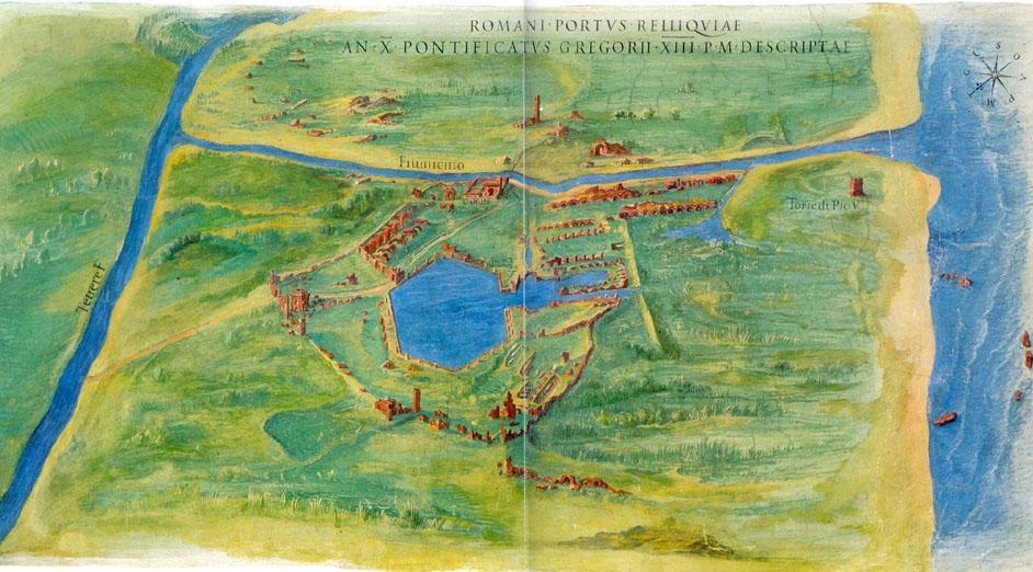 Carte des ruines en 1582