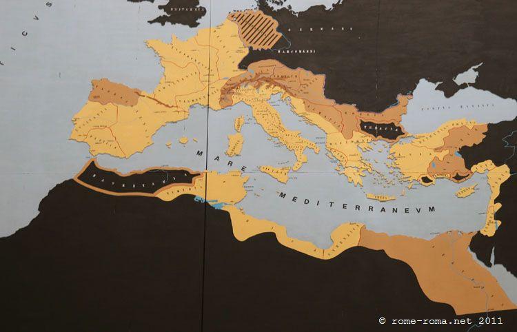 Mappa dell'Impero Romano sotto Augusto