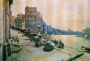 franz - il porto di ripetta verso ponente-1880[1]