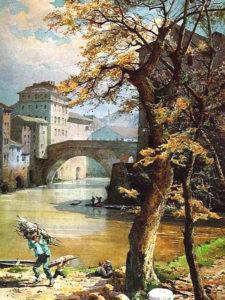 Ponte Fabricio, Ettore Roesler Franz (environ 1896)