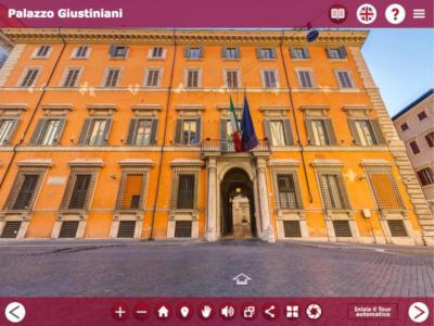 Visite virtuelle du Palais Giustiniani