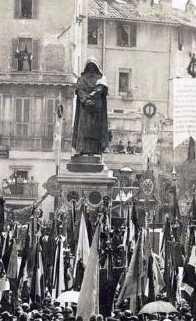 Inauguration de la statue de Giordano Bruno, 9 juin 1889