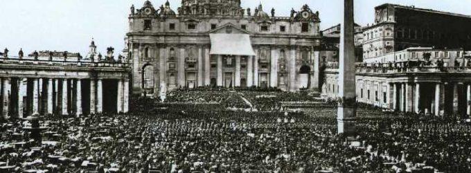 Pèlerinage à Saint-Pierre Bénédiction papale, 1869