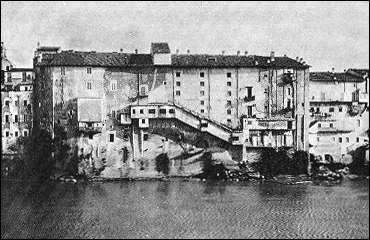 Maisons sur le Tibre (avant la construction des berges)