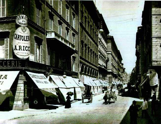 Via del Tritone, fin XIXe